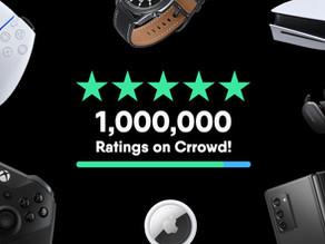 🚨Milestone alert🚨 1 million ratings in Crrowd!