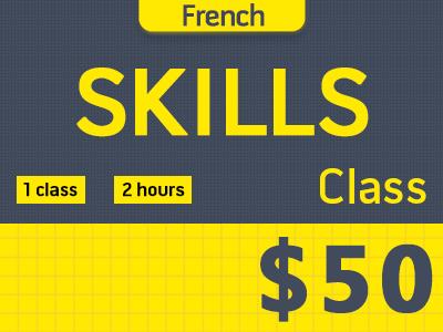 French Skills Class (1 class)