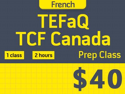 Cours de préparation TEFaQ/TCF Canada (4-12P)