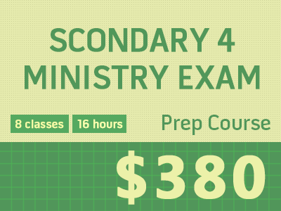 Secondary 4 Ministry Exam Preparation   - Maths & Sciences