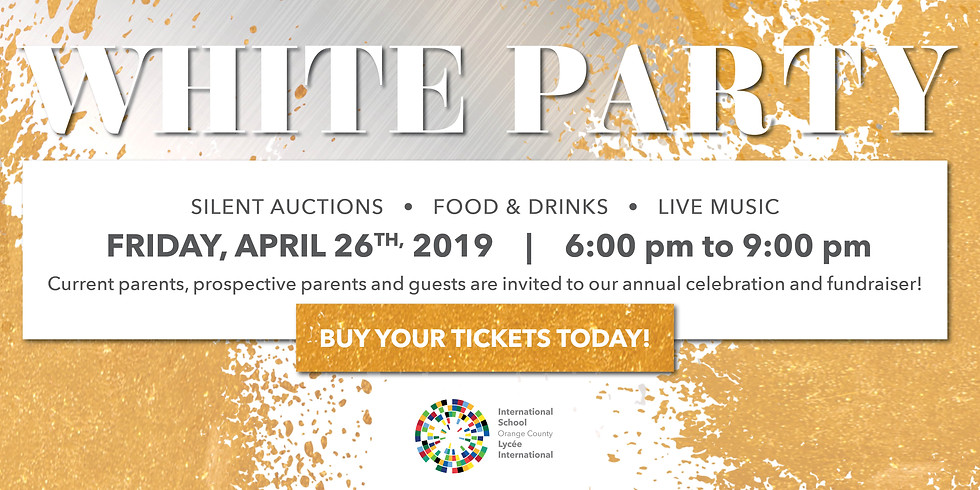 Annual Parents' Soiree - The White Party