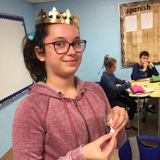 6th grade classroom - galette des rois