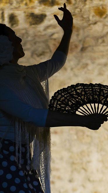 Mujer con abanico Sombra