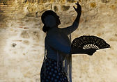 Woman Shadow with Fan