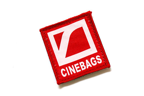 CineBags logo patch - fire red