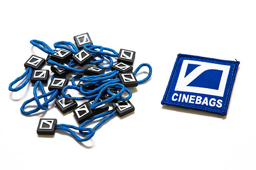Patch and zipper pulls - Royal blue
