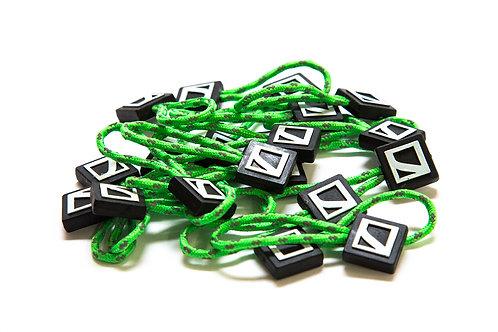 Zipper pulls - lime green