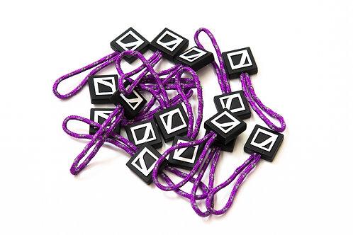 Zipper pulls - purple
