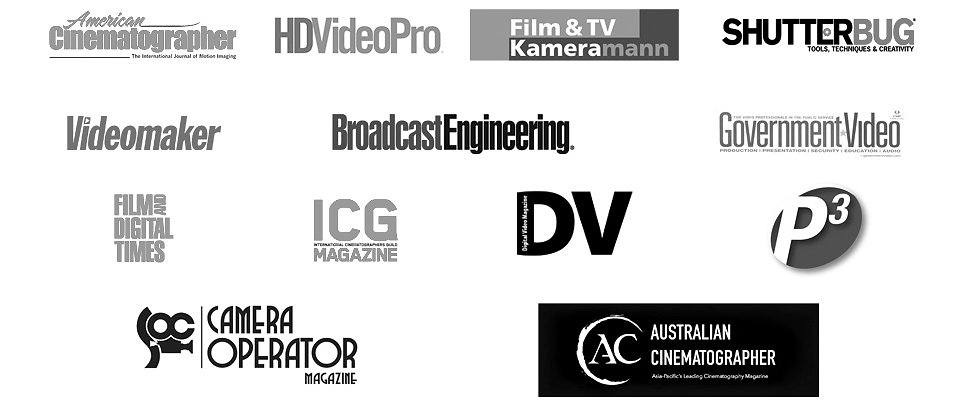 CineBags as seen in the news, SOC Magazine, ASC Magazine, ICG magazine, Film& Digital Times,  media