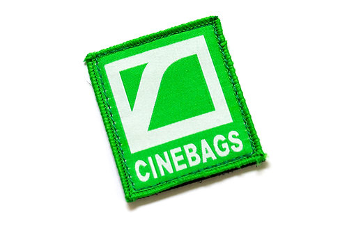 CineBags logo patch - lime green