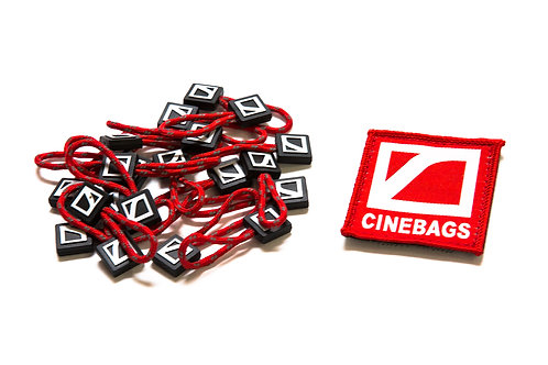 Patch and zipper pulls - Fire Red
