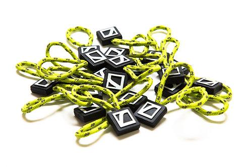 Zipper pulls - electric green