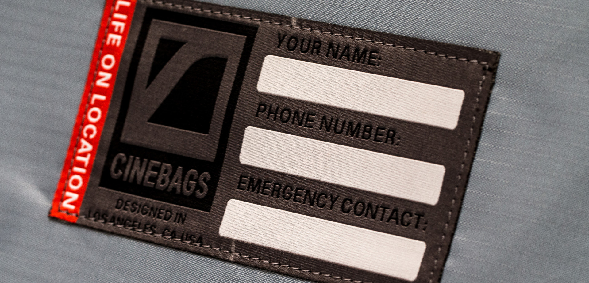 CineBags CB26 GoPro Bunker emergency contact info