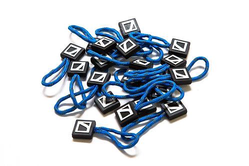 Zipper pulls - royal blue