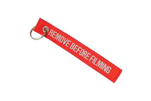 Remove before filming key chain