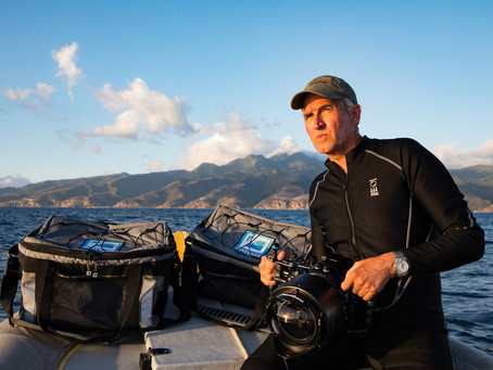 Brian Skerry on location