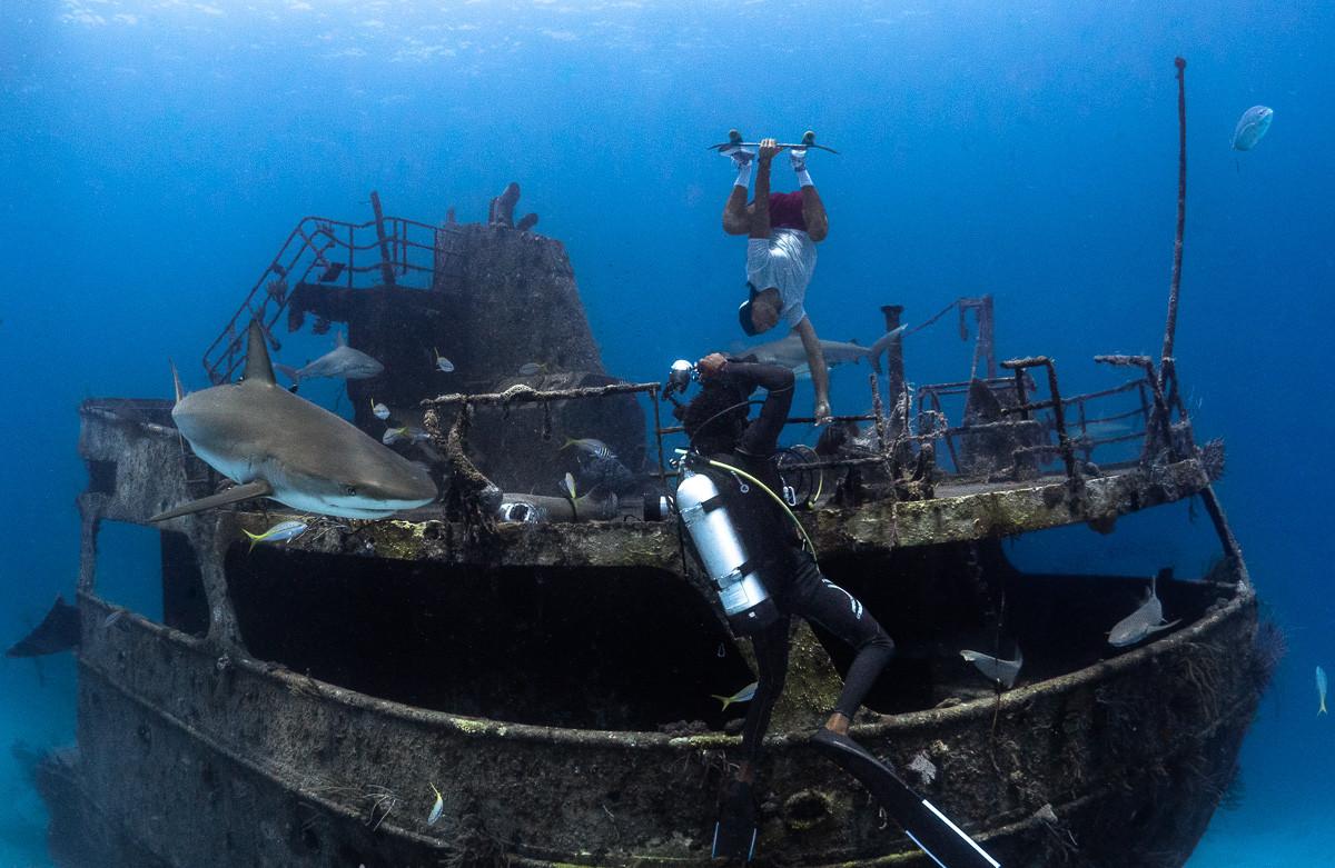 CineBags Underwater ambassador André Musgrove