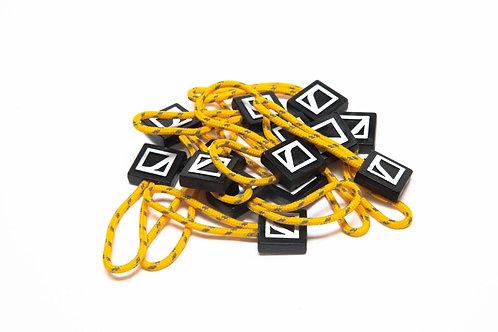 Zipper pulls -Sunset Yellow
