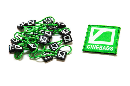 Patch and zipper pulls - Lime Green