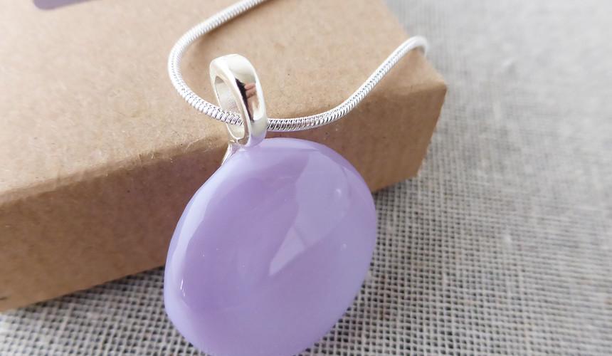Lilac Dot Pendant