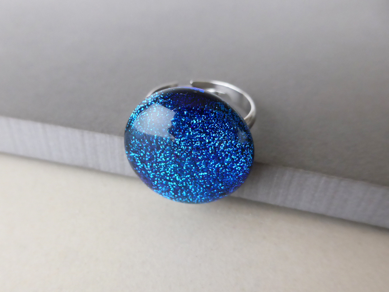 Sparkly Blue Ring