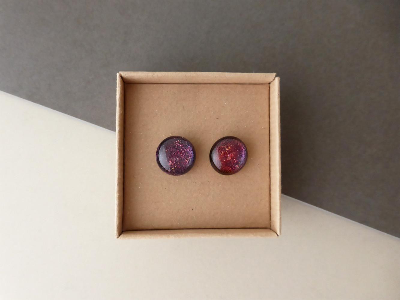 Sparkly Deep Red/Purple Studs