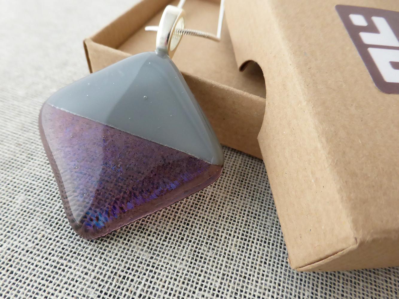 Grey & Clear Purple Diamond