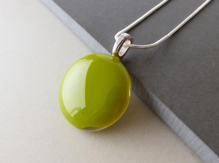 Olive Green Dot Pendant