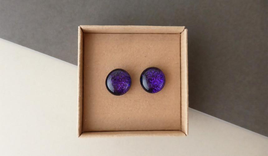 Sparkly Purple Studs