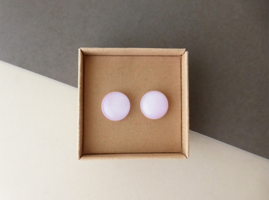 Pale Pink Studs