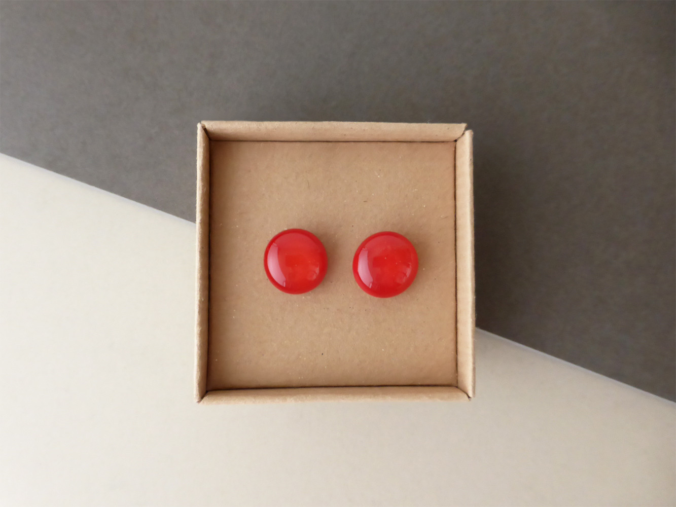 Bright Red Studs
