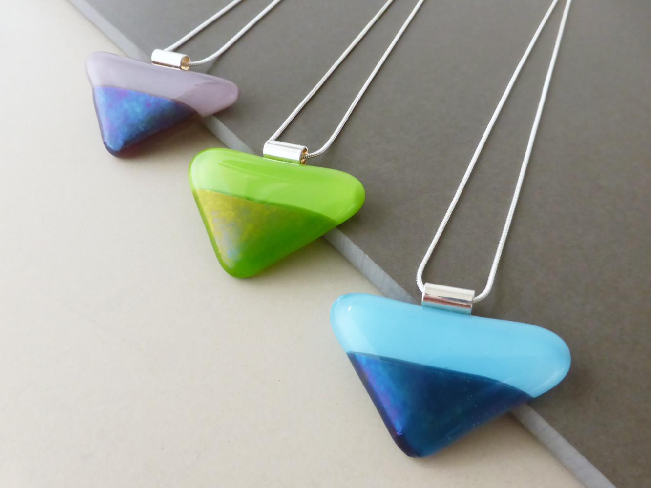 Two Tone Triangle Pendants
