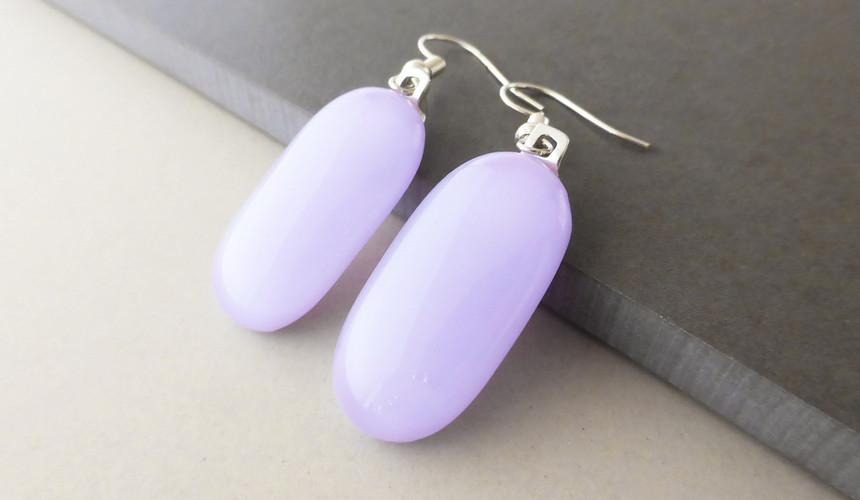 Lilac Drop Earrings