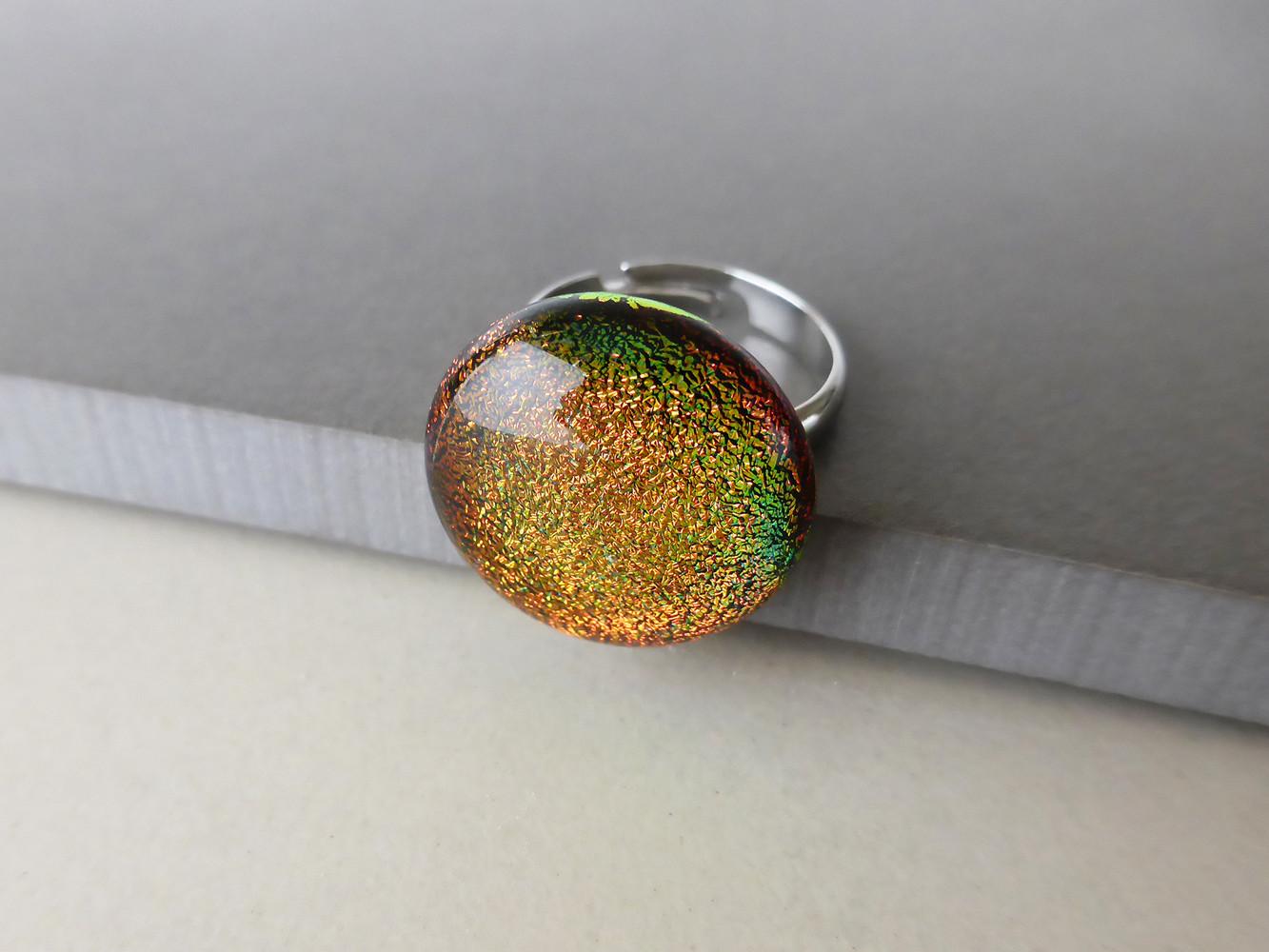 Sparkly Orange Ring