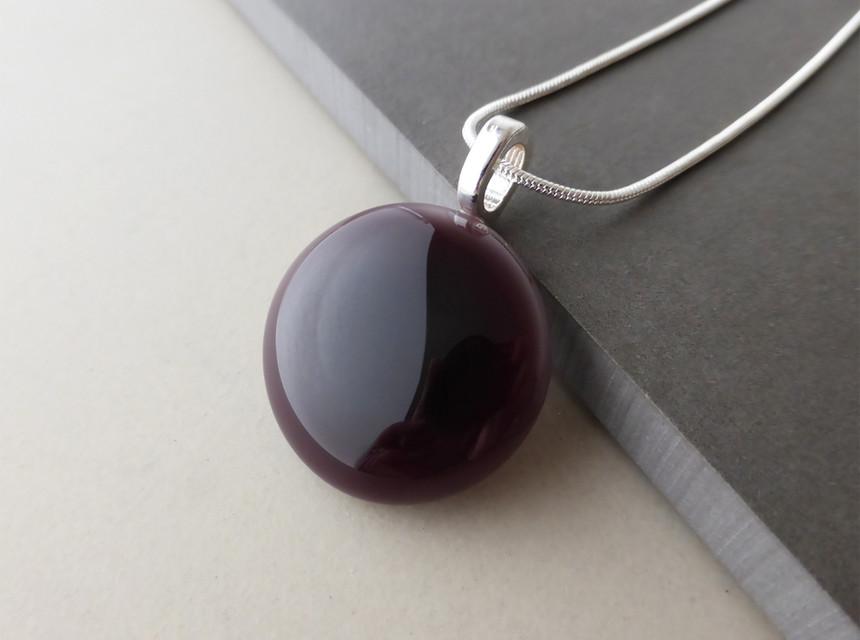 Deep Purple Dot Pendant