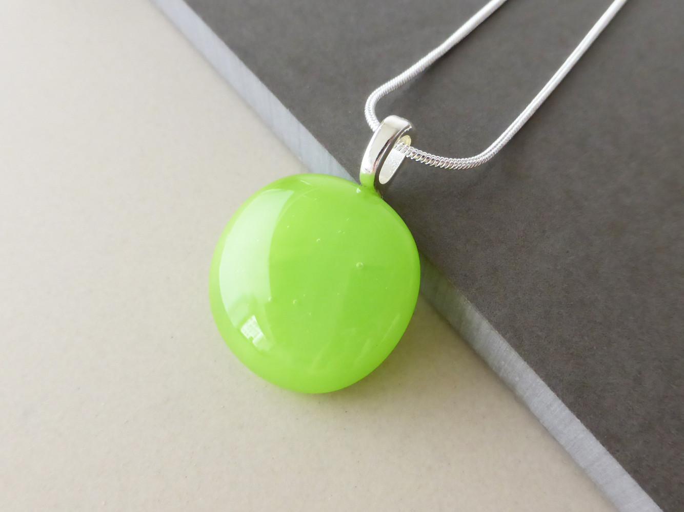Lime Green Dot Pendant