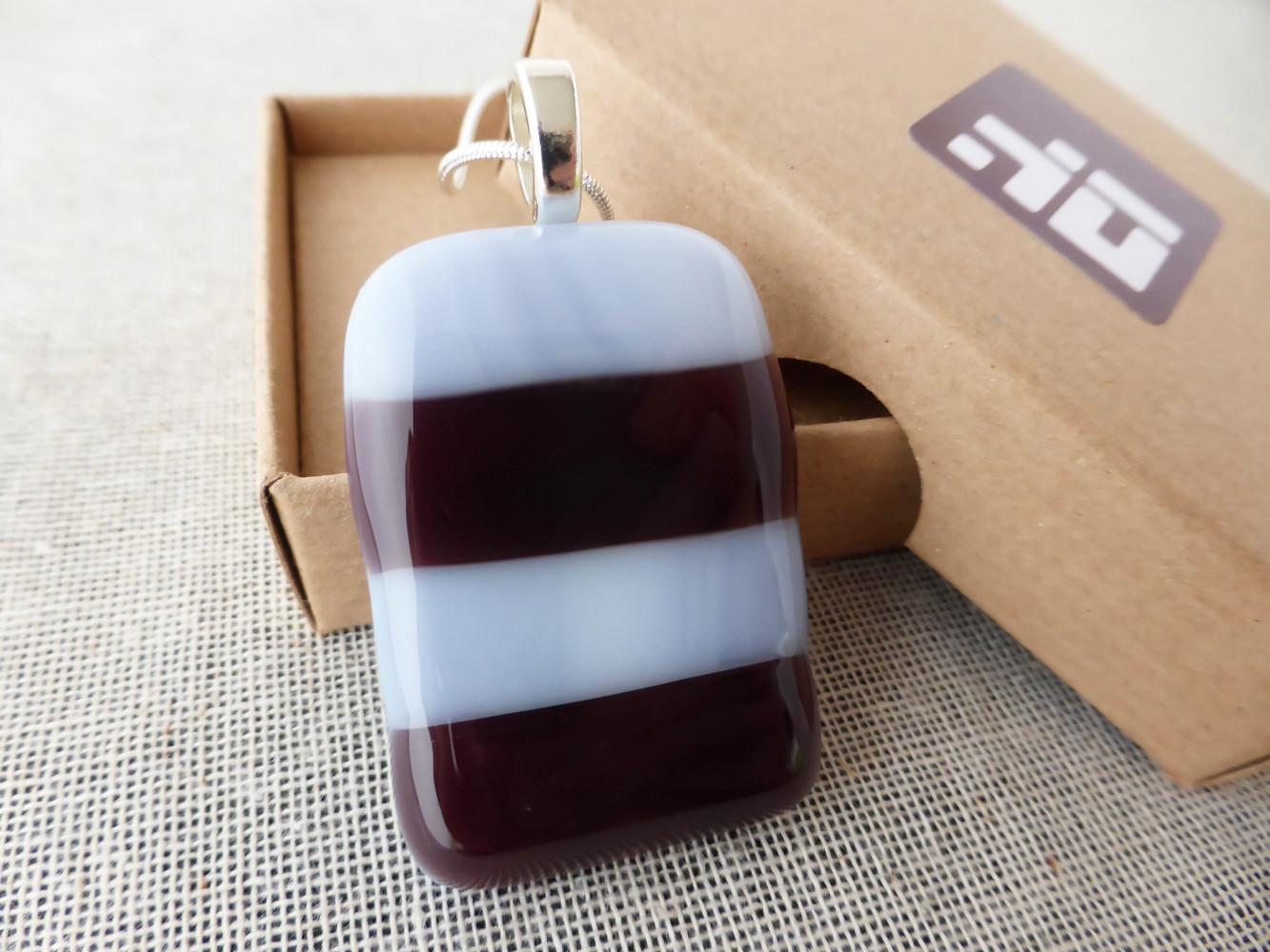 Purple Striped Pendant