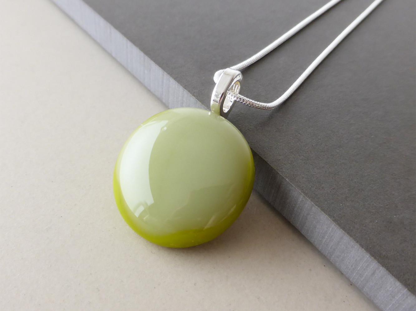 Artichoke Green Dot Pendant