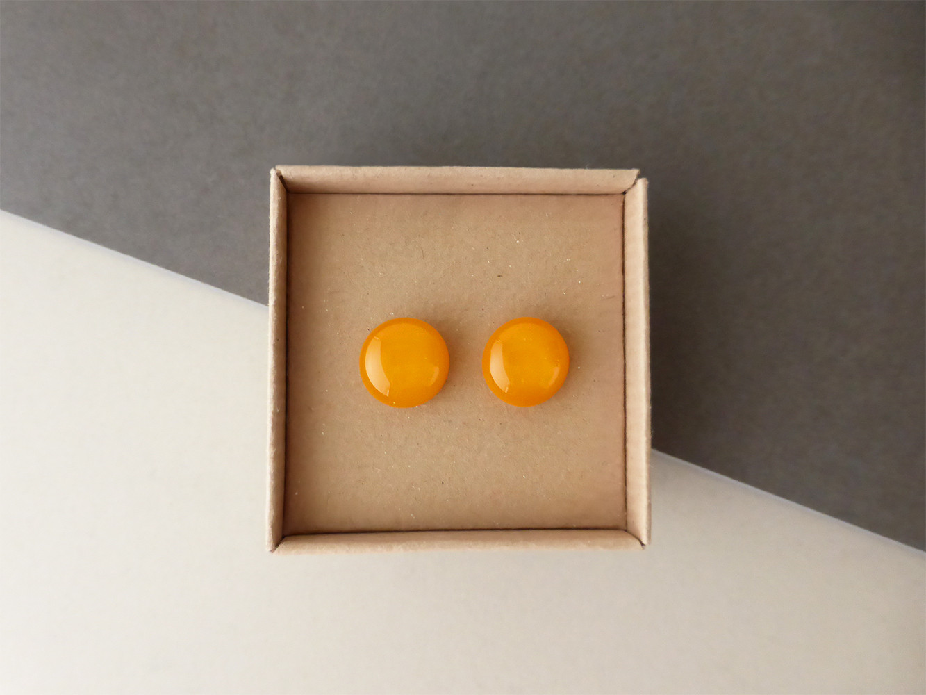 Pumpkin Orange Studs