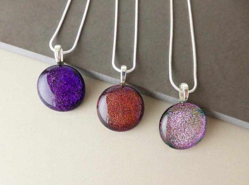Sparkly 'Dot' Pendants