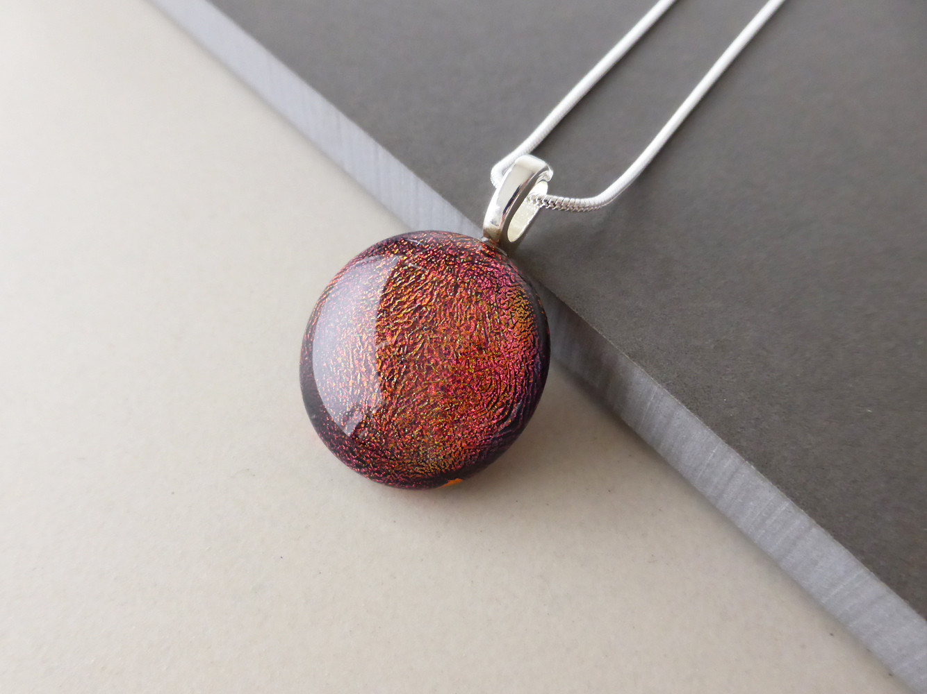 Deep Red Sparkly Dot