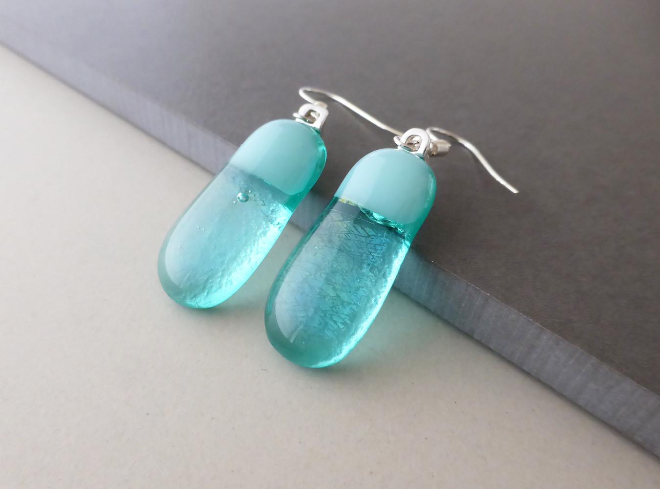 Glacier Blue drop Earrings