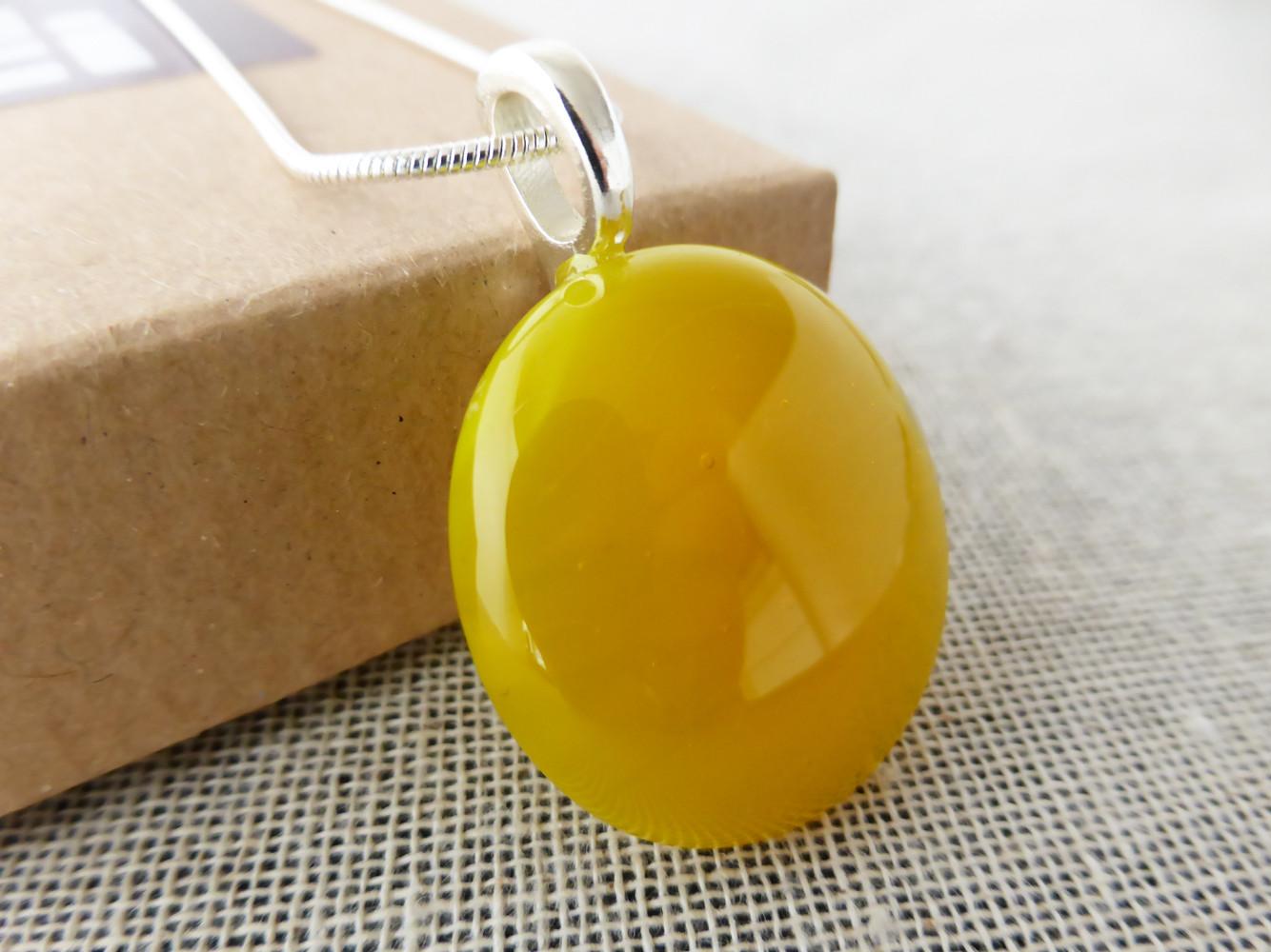 Yellow Dot Pendant
