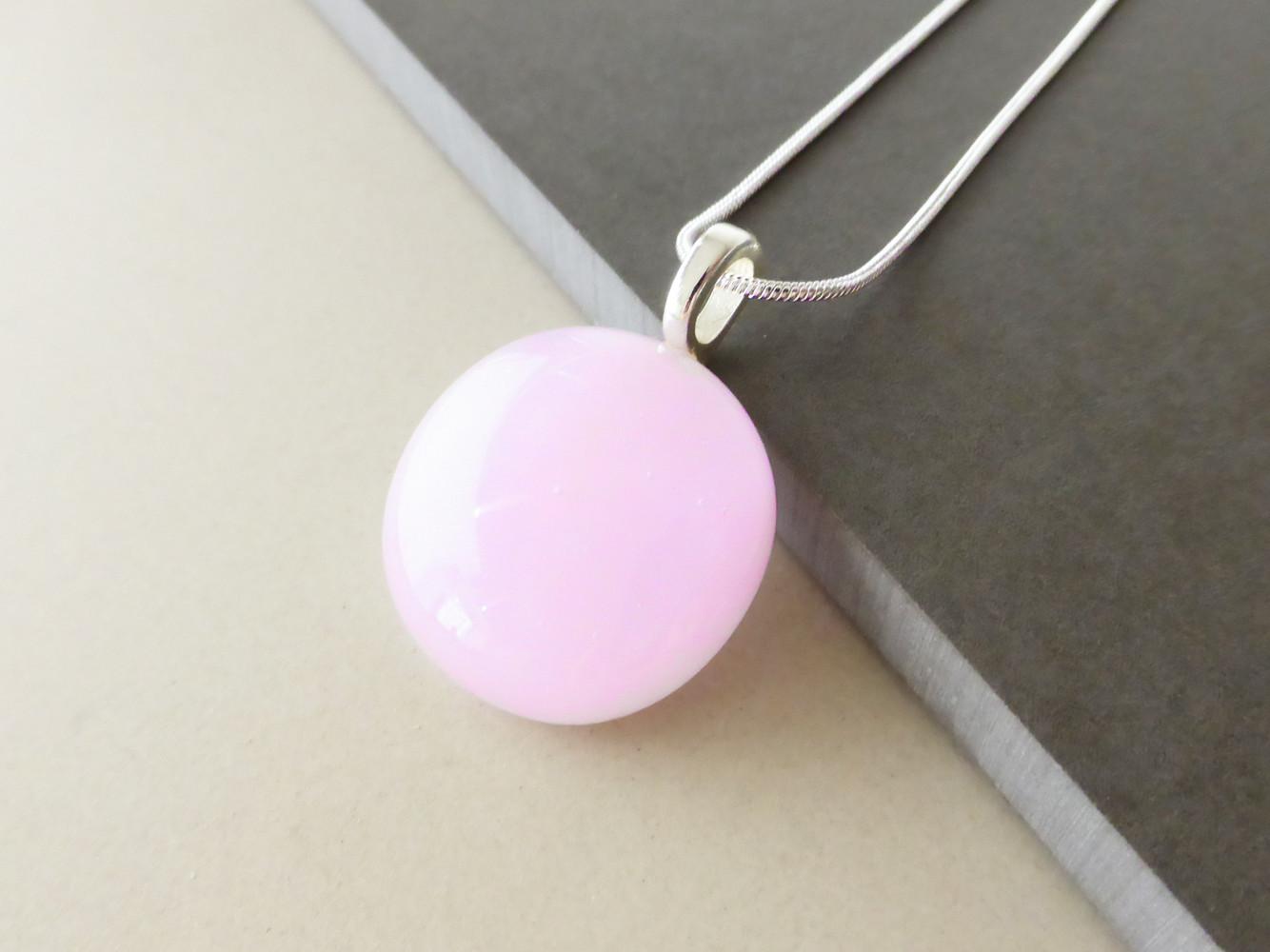 Pale Pink Dot Pendant