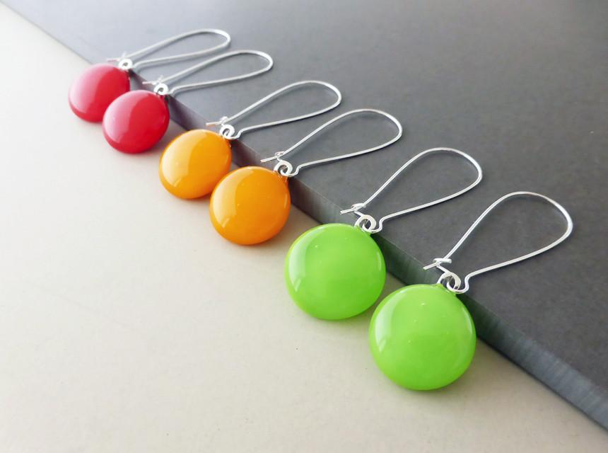 Traffic Light Drop Earrings