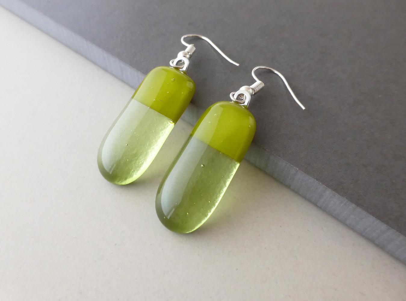 Olive/Moss Drop Earrings