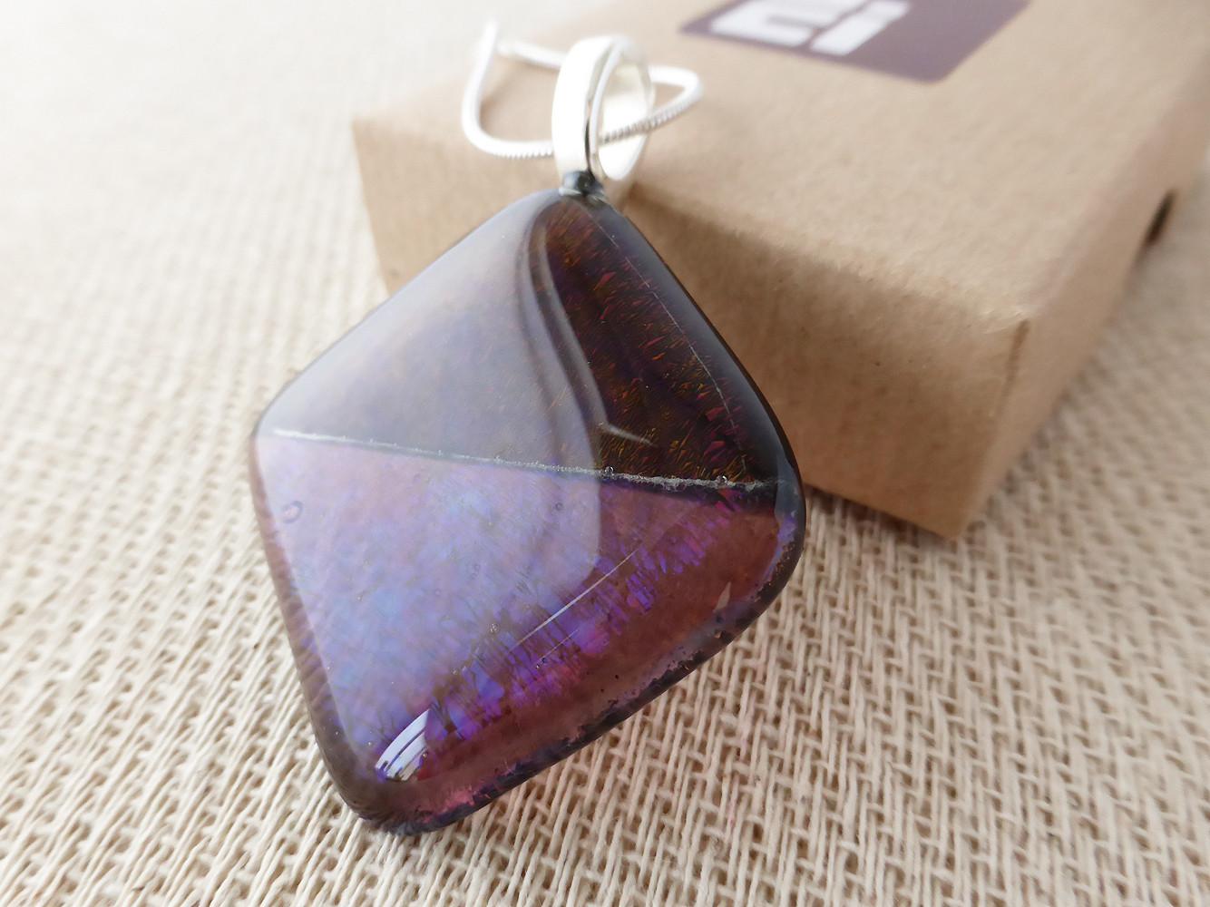 Purple & Clear Purple Diamond