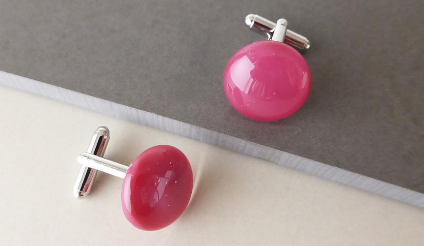 Deep Pink Cufflinks