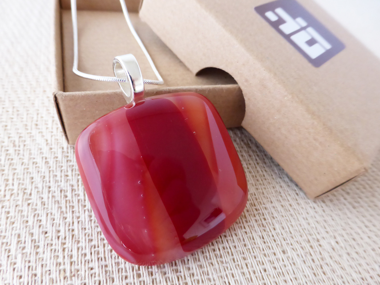 Red Striped Pendant