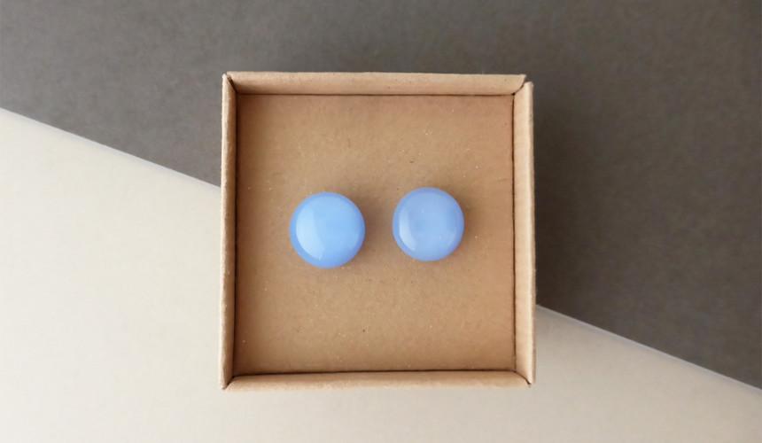 Mauve Blue Studs